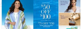 Catherine's: $50 Off Purchase Of $100 Or More With Promo Code (until May 9)