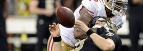Ahmad Brooks hit Drew Brees and the game changed