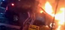 Burning Car Rescue Caught on Camera