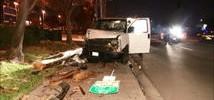 Van Slams into Hayward Utility Pole