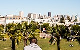 Enjoying the Sun in Mission Dolores Park