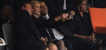 "Obama Takes ""Selfie"" at Funeral"