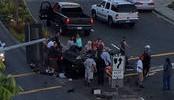 Driver Transported to Hospital After Car Flips Off Highway