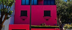 pink house on Telegraph Hill in San Francisco