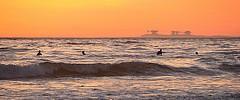 Superior mirage  of Point Reyes national Seashore - seen from Ocean Beach, San Francisco