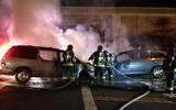 Two Minivans Crash, Spark Fire in San Jose