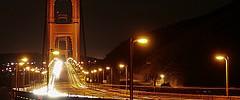 Traffic at night, San Francisco USA