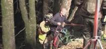 Driver Rescued After Car Plummets Over Embankment
