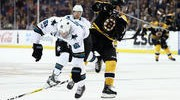 Jones Pulled Early as Bruins Bounce Sharks