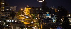 Crescent Moon Over Lombard Street