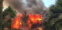 Raging Fire Engulfs Vallejo Motel, 16 Units Destroyed
