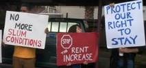 Residents Crowd Landlord's Doorstep, Demand Repairs