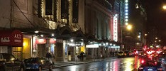 A wet night on Geary Street.