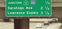 Caltrans Takes Some Heat for 'Saratogo Ave.' Sign on I-280