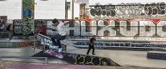 Jumping at SOMA West Skatepark