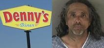 Man Charged For Trying to Light Diners in Denny's on Fire