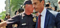 Tearful Weiner Pleads Guilty to Sexting Charge, Faces Prison