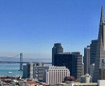 Transamerica Building and Bay Bridge