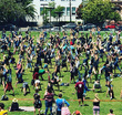 427 People Attempt To Break Group Handstand Record In Dolores Park