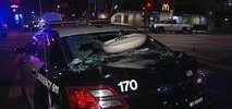 Bathroom Sink Shatters Window of San Francisco Cop Car