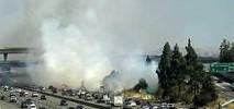 Brush Fire Burns Along Highway 101 in San Jose