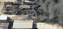 Fire Burns at Metal Recycling Yard Near Oakland Airport