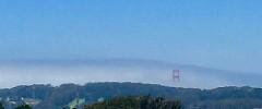 Fogbank beginning to cover the Golden Gate Bridge