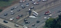Garbage Truck Crashes Over Center Divide on I-280 in SF