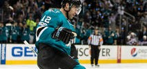 Marleau Shows Off Maple Leafs Colors at Sharks' Practice