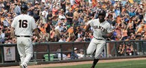 Parker's Excuse-Me Double Lifts Giants Over Brewers