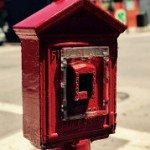 Vintage fire alarm. San Francisco