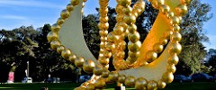 2015, Aluminum, Conservatory of Flowers, Gold Leaf, Golden Gate Park, La Rose des Vents by Jean-Michel Othoniel, Steel