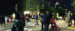 Fairoaks street in SanFrancisco on Haloween night