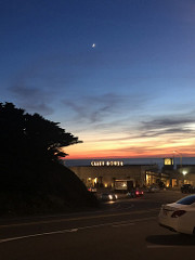 Moon over the Cliff House