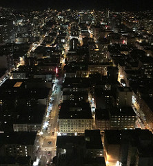 San Francisco at night. Think of all of these lives of all of these people intertwined and interconnected.
